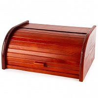 Altom Dřevěný chlebník s roletou 40 x 18 x 28 cm, tmavě hnědá