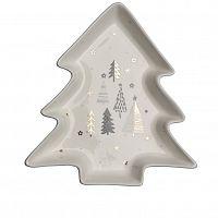Altom Porcelánový servírovací talířek Stromeček Nordic Forest Trees 17,5 cm