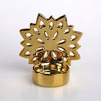Altom Porcelánový svícen na čajovou svíčku Snowflake, 9,5 x 10 cm