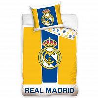 BedTex Bavlněné povlečení Real Madrid Yellow stripes, 160 x 200 cm, 70 x 80 cm