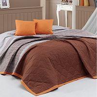 BedTex Přehoz na postel Spencer hnědá, 220 x 240 cm, 2x 40 x 40 cm