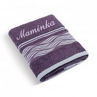 Bellatex Froté ručník 50x100 Vlnka 72/120 s výšivkou Maminka