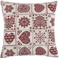 Bellatex IVO polštářek Srdce patchwork, 45 x 45 cm