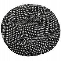 Bellatex Sedák Adéla kulatý prošívaný Puntík černá, 40 cm
