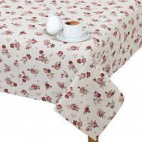 Bellatex Ubrus IVO 100x100 cm Korunová růžička, růžová, 100 x 100 cm