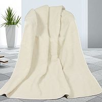 Bellatex Vlněná deka bílá, 155 x 200 cm