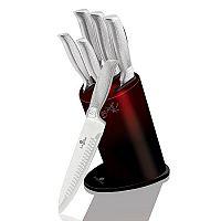Berlinger Haus 6dílná sada nožů ve stojanu Burgundy Black Metallic Line