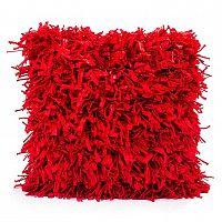 BO-MA Trading Povlak na polštářek Shaggy červená, 45 x 45 cm