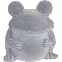Cementový květináč Žába, 30,5 cm