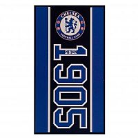 CurePink Osuška Chelsea FC: Established 70 x 140 cm modrá bavlna