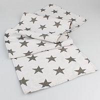 Dakls Běhoun Stars bílá, 33 x 140 cm