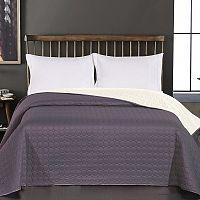 DecoKing Přehoz na postel Salice šedá, 240 x 260 cm