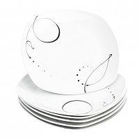 Domestic 6dílná sada mělkých talířů Chanson, 25 cm