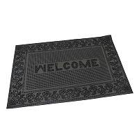 Flomat Venkovní rohožka kartáčová Welcome - Leaves, 40 x 60 cm