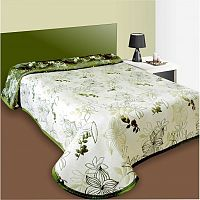 Forbyt Přehoz na postel Lisbon zelený, 240 x 260 cm