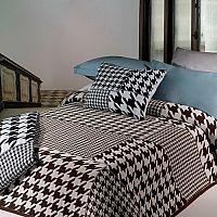 Forbyt Přehoz na postel Mix, černá, 140 x 220 cm
