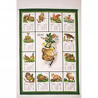 Forbyt Textilní kalendář 2015 Myslivecký, 45 x 65 cm