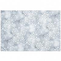 Forbyt Vánoční ubrus Hvězdy stříbrná, 30 x 45 cm