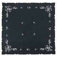 Forbyt Vánoční ubrus jmelí modrá, 35 x 35 cm