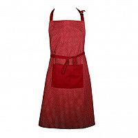 FORBYT Zástěra Puntíky červená, 70 x 90 cm