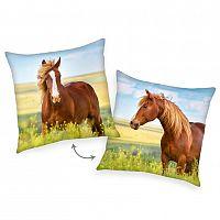 Herding Polštářek Kůň hnědá, 40 x 40 cm