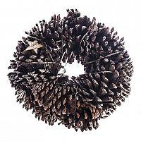 HTH Věnec se šiškami a březovými hvězdami pr. 25 cm, přírodní