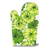 Jahu Chňapka Květy zelená, 28 x 18 cm