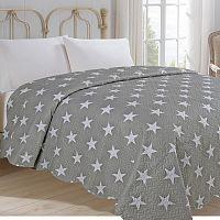 Jahu Přehoz  na postel Stars šedá, 220 x 240 cm