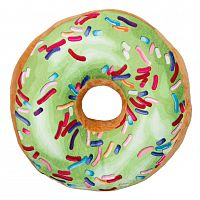 Jahu Tvarovaný polštářek Donut zelená, 38 cm