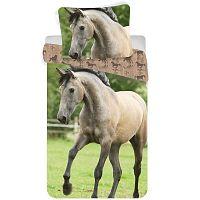 Jerry Fabrics Bavlněné povlečení Kůň western, 140 x 200 cm, 70 x 90 cm
