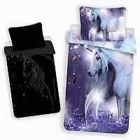 Jerry Fabrics Dětské bavlněné svíticí povlečení Unicorn glow, 140 x 200 cm, 70 x 90 cm