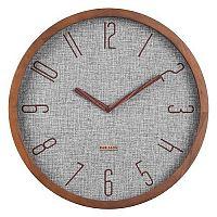 Karlsson 5823GY Designové nástěnné hodiny pr. 35 cm