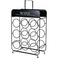 Koopman Kovový stojan na 9 láhví vína, 37,5 cm x 18 x 55 cm