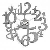 Koziol Nástěnné hodiny PI:P šedá, pr. 45 cm