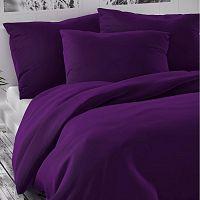 Kvalitex Saténové povlečení Luxury Collection tmavě fialová, 240 x 220 cm, 2 ks 70 x 90 cm