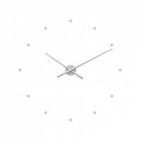 LCT1020 Nástěnné hodiny LAVVU 3D STICKER BLACK Dots, stříbrná