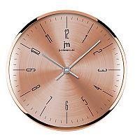 Lowell 14949R nástěnné hodiny, pr. 26 cm