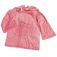 Modom Deka Comfort s rukávy a kapsou růžová, 180 x 135 cm