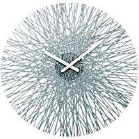 Nástěnné hodiny Silk antracit, Koziol