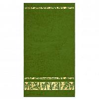 Night in Colours Ručník Bamboo Gold tmavě zelená, 50 x 90 cm