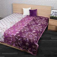 Přehoz na postel Alberica fialová, 240 x 200 cm