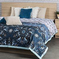 Přehoz na postel Alberica modrá, 160 x 220 cm