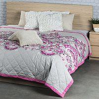 Přehoz na postel Laissa růžová, 240 x 200 cm