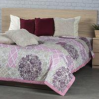 Přehoz na postel Ottorino fialová, 160 x 220 cm