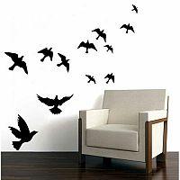 Samolepicí dekorace Silueta Ptáci, černá