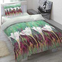 Saténové povlečení Aria Floral, 140 x 200 cm, 70 x 90 cm