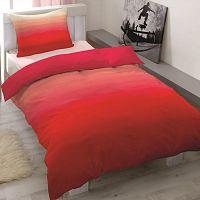 Saténové povlečení Balayage červená, 140 x 200 cm, 70 x 90 cm