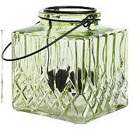 Svícen Crystal zelená, 10 cm