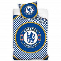 Tip Trade Bavlněné povlečení FC Chelsea Circle, 140 x 200 cm, 70 x 80 cm