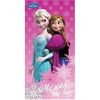 TipTrade Osuška Ledové království Frozen Sister hero, 70 x 140 cm